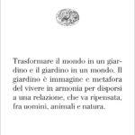 Massimo Venturi Ferriolo, infinito simbolico del giardino